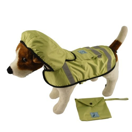 One for Pets Safety Hooded Raincoats, 28-Inch, Spring by One for Pets