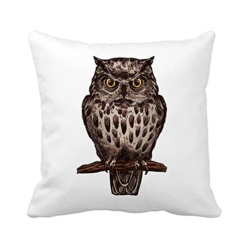 Awowee Throw Pillow Cover Owl Eagle Bird Sketch Wild for sale  Delivered anywhere in Canada