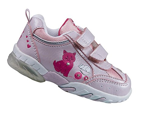 EB kids Cat V Blinky Mädchen Freizeitschuh mit Blinklichtern Rosa/Pink