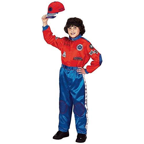 [Jr. Champion Race Suit Costume - Large] (Robin Kids Costumes Kit)