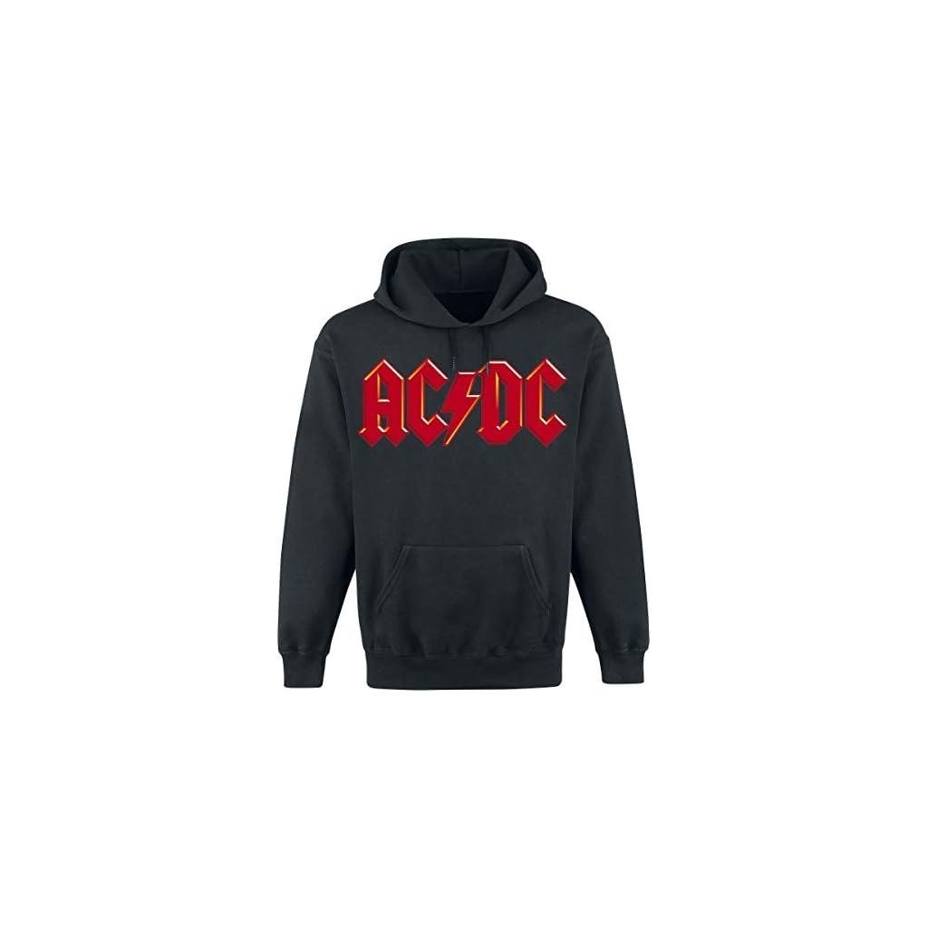 AC/DC Red Logo Sudadera con Capucha Negro