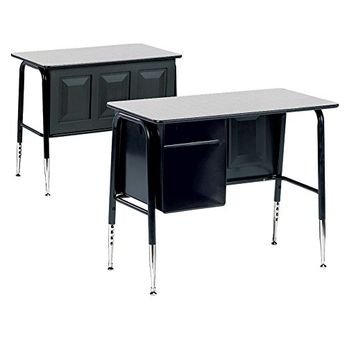 Single Desk with Book Box Gray Nebula Top/Charblack Frame Dimensions: 34