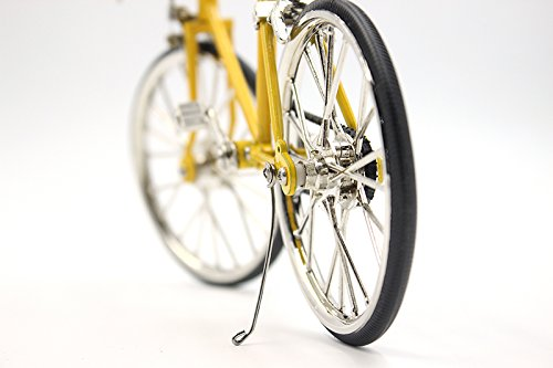T.Y.S Racing Bike Model Alloy Simulated Road Bicycle Model Decoration Gift, Christmas Brithday Gifts for Dad, Boy and Cyclist, Yellow by T.Y.S (Image #4)