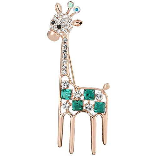 [Giraffe Rhinestone Brooch Pin Women Jewelry Sweater Shawl Scarf Buckle] (Peppermint Butler Costume)