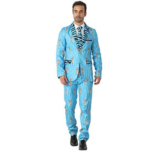 EraSpooky Men's Suits for Party, Tiger Pattern Leisure Suit Costumes for Men Include Jacket Pants Tie]()