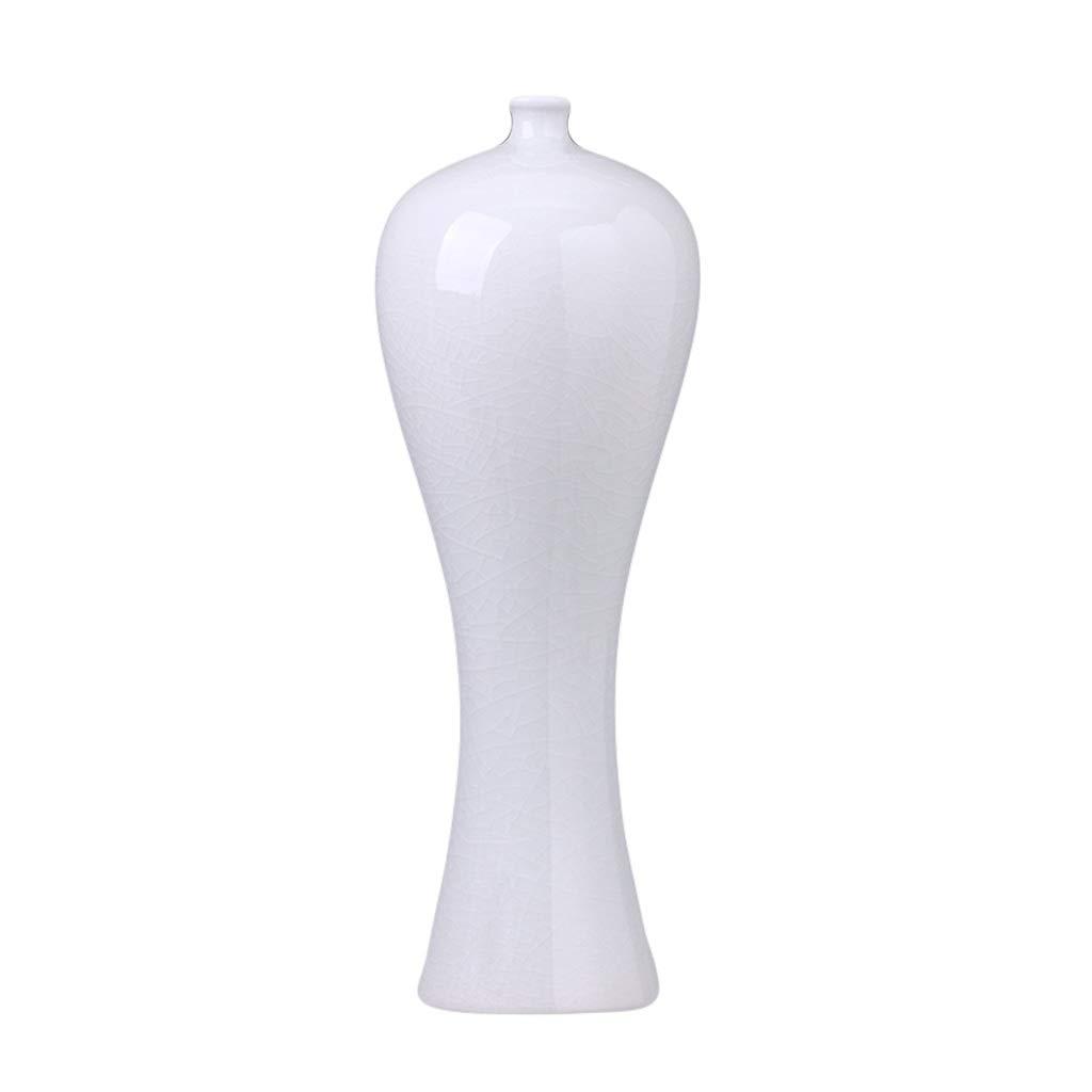 MAHONGQING 花瓶セラミック梅瓶白花瓶アンティークホームリビングルームフラワーテレビキャビネットワインキャビネット装飾飾り B07S7CXG39