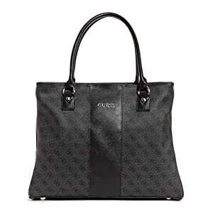 Guess Nissana Shopper Travel Tote, Charcoal with Silver Hardware, One Size