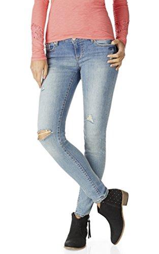 Aeropostale Womens Destructed Jegging Jeans 4 Short Blue