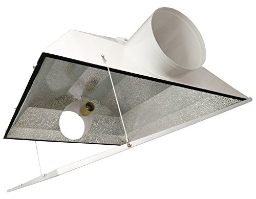 Hydro Crunch 8-Inch Extra Large Air Cooled Grow Light Reflector with 8