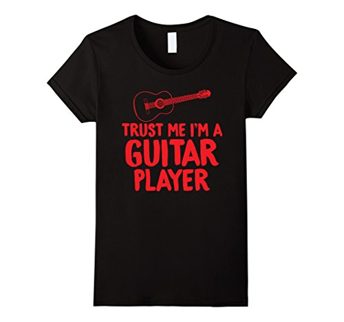 Womens Trust Me I'm a Guitar Player Electric Acoustic T Shirt Gifts Large Black by Unknown