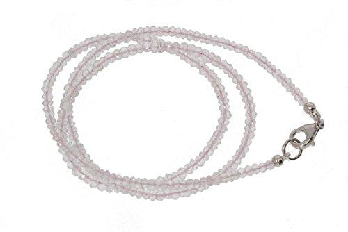 Rose Quartz Facet Rondelle Beads - Rose Quartz Faceted Rondelle Beads 2.5 to 3.5 mm AA Necklace for Women