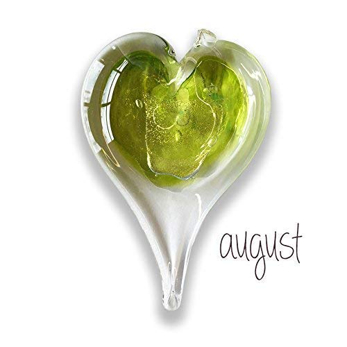 (Luke Adams Glass Small Heart August Birthstone)