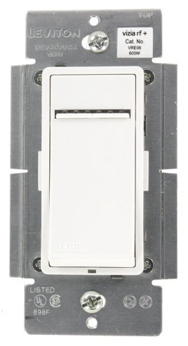 - Leviton VRE06-1LZ Vizia RF + 600W Electronic Low Voltage Scene Capable Dimmer, White/Ivory/Light Almond, Works with Alexa