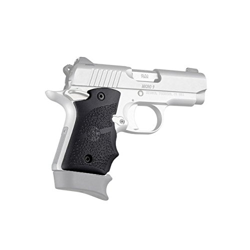 Hogue Kimber Micro 9 Ambidextrous Safety Rubber Grip with Finger Grooves, Black, 39080