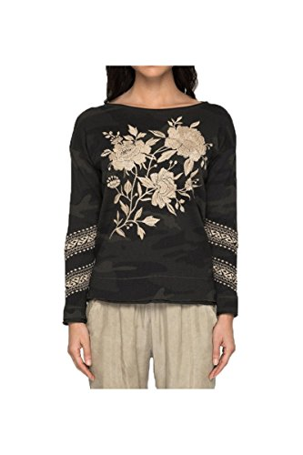 Jwla By Johnny Was Womens Magdalene L S Thermal  Forest Camo  S