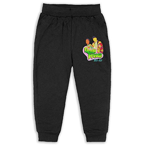 Cosateone The Fresh Prince of Bel-Air Boys Sweatpants Youth Joggers Sport Training Pants Black