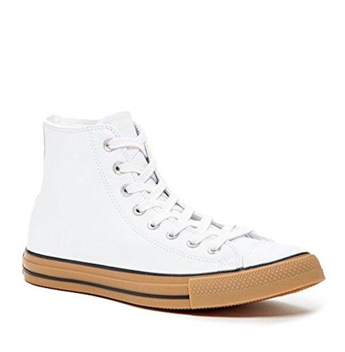 Converse Chuck Taylor All Star Hi Bianco Pelle Taglia 12 Uomo Donna 14 (152601c)
