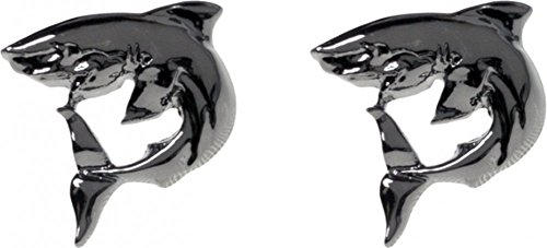 Sourpuss Brand - Gun Metal Colored Sharks - Stud Earrings