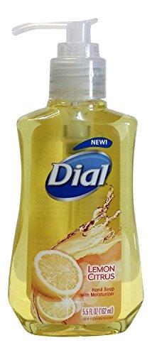 Dial Liquid Hand Soap with Moisturizer, Lemon Citrus, 5.5 Fl Oz (Pack of (Antibacterial Liquid Soap Lemon)