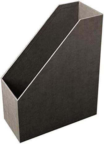 NMBD Bürozubehör Storage Rack Desk Office Desktop A4 Ordner Informationen Student Book Buch Set Box Finishing-Box Papier HUYP (Farbe: Grau) (Color : Gray)