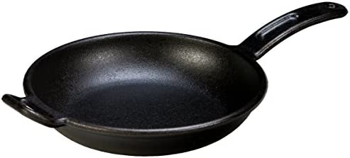 Lodge Pro-Logic Seasoned Cast Iron Skillet – 10 Inch Modern Design Cast Iron Frying Pan with Assist Handle Made in USA