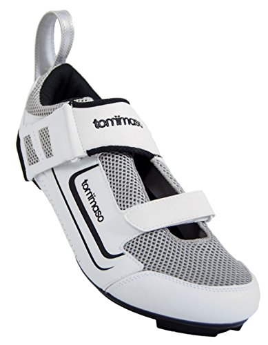 Tommaso Veloce 100 Triathlon Road Cycling Shoe - White - 44