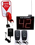2-Digit Wireless Take-A-Number System with