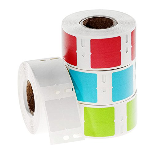 2 Across Pack of 1000 LabTAG EDY-040RE Red Dymo Compatible Direct Thermal Paper Labels 0.5 x 1//12.7 x 25.4 mm