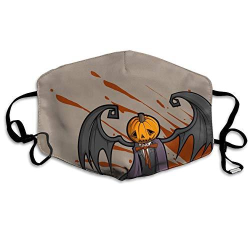 (Halloween Pumpkin Pattern,Unisex,Anti-dust Flu Washable Reusable,Mouth Mask,Fashion Design for Girls Women Boys)