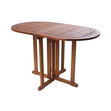 Amazon De Gartentisch Baltimore Klappbar Gartentisch Oval