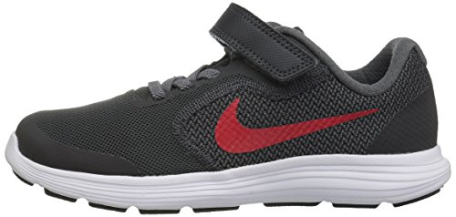 NIKE Kids' Revolution 3 (Psv) Running-Shoes, Black/University Red/Dark Grey, 1 M US Little Kid by Nike (Image #5)