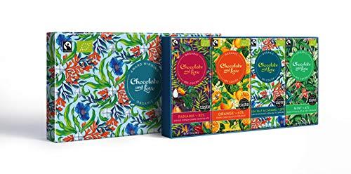 Chocolate and Love Filled Gift Box - Sea Salt / Panama / Orange / Mint 4 x 80g - 80 Exchange Equal