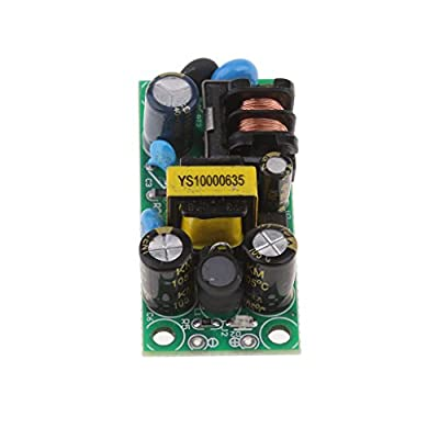 MagiDeal AC-DC 12V 500mA Buck Converter Isolation LED Bare Plate Power Supply Module Board Pack of 1