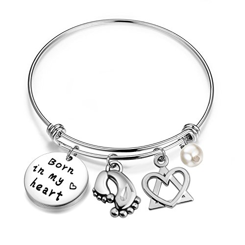 Adoption Gift Born In My Heart Adoption Bracelet For Adoptive Mom Foster Mom