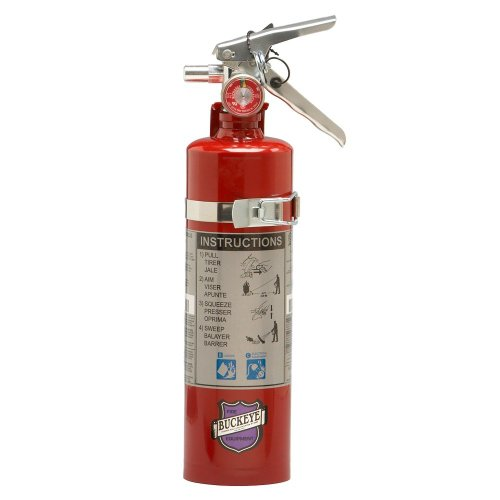 (Lot of 1) 2 1/2 Lb. Type ABC Dry Chemical Fire Extinguisher with Vehicle Bracket and 1 - Yellow Service Tag ()