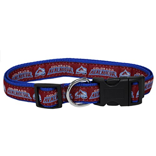 Pets First NHL Colorado Avalanche Collar for Dogs & Cats, Large. - Adjustable, Cute & Stylish! The Ultimate Hockey Fan Collar!