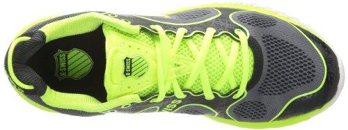 K-Swiss Kbl 2 Neutral, Scarpe da corsa Uomo Grigio (Gris (Charcoal/Neon Citron))