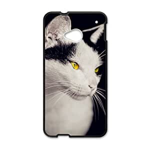 Animal Series Cute Cat Design Hot Black Case For HTC One M8 With Best Plastic By All My Dreams