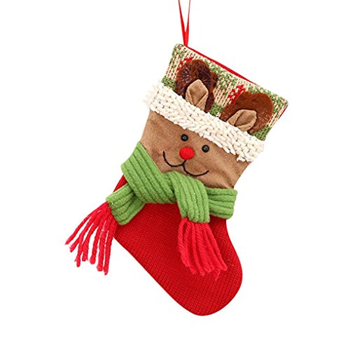 Christmas Gifts Knitted Snowman Candy Beads Christmas Santa