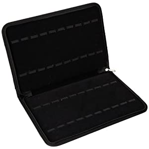 Optima Unisex 33-190 Black Twenty-Watch Case with Zipper