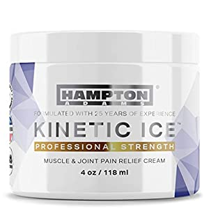 (4 oz) Hampton Adams Pain Relief Cream – Maximum Strength for Arthritis, Muscle & Joint Pain Relief – USA Made – Reduce Inflammation, Aid Injury Recovery and Rediscover Pain-Free Comfort