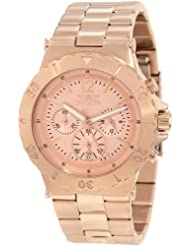 Invicta Men's 1267 Specialty Chronograph Rose Tone Dial 18k Rose Gold Ion-Plated Watch