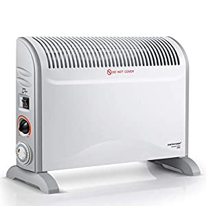 DONYER POWER Convector Radiator Heater with Adjustable Thermostat/Adjustable 3 Heat Settings (750/1250 / 2000 W) / Time/Electrical/Convection Heating/Oil-Free Radiator