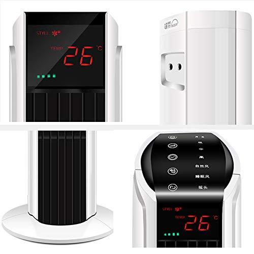 Ventilador de torre Ventilador de aire acondicionado silencioso vertical para el hogar control remoto de escritorio Ventilador sin hojas ventilador de piso Ventilador el/éctrico Aire de purificaci/ón