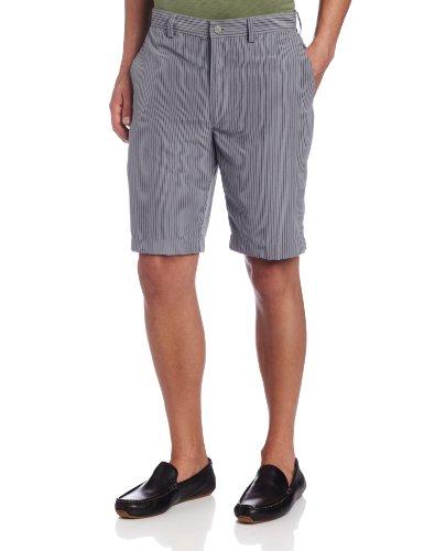 Fine Stripe Short (John Henry Men's Stripe Flat Front Short, Frost Gray, 38)
