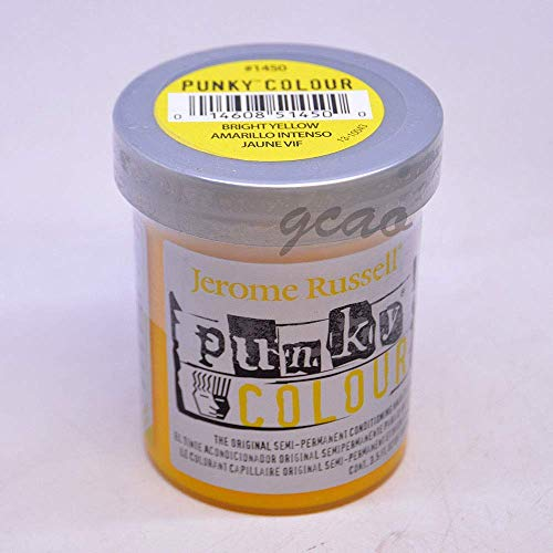 Punky Bright Yellow Semi Permanent Conditioning Hair Color,