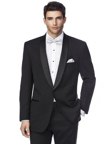 The James Shawl Collar Tuxedo Jacket by Dessy Group - Black - Size - Shawl Collar Black Tuxedo Jacket Black
