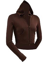 Kavio! Junior Long Sleeve Double Zip Fitted Crop Hoodie