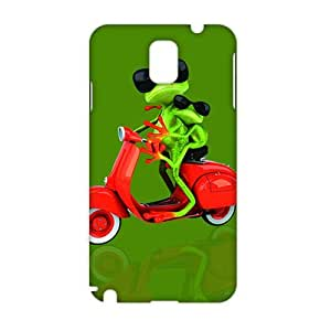 Evil-Store Cool frog with motor 3D Phone Case for Samsung Galaxy Note3