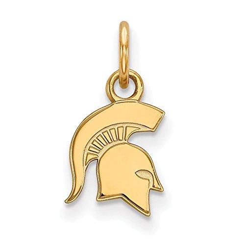 (Roy Rose Jewelry 10K Yellow Gold LogoArt Michigan State University X-small Pendant/Charm)